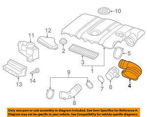 VW VOLKSWAGEN OEM Jetta Air Cleaner Intake-Intake Duct Tube Hose 1K0129618AD