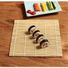 Sushi Mat Bamboo Maker Kit Rice Roll Mold Kitchen DIY Mould Roller Rice Paddl FM