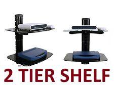2 LAYER SHELF STAND HD TV MOUNT PS4 XBOX BLU-RAY LED VERIZON COMCAST CABLE BOX