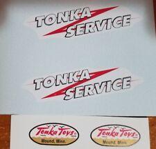 TONKA SERVICE VAN TRUCK 59-61 DECALS + DOOR LOGO'S