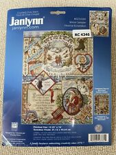 Janlynn Counted Cross Stitch Kit~Winter Sampler~023-0384~Christmas Snow
