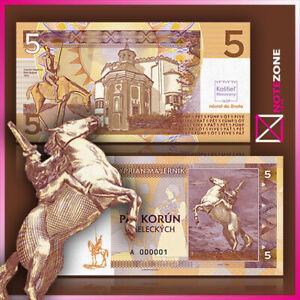 Matej Gabris 5 Korun Test Specimen banknote Private Fantasy note