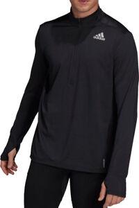 adidas Own The Run Half Zip Long Sleeve Mens Running Top - Black