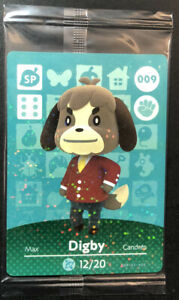 Official Animal Crossing Single Amiibo Card [ 009 Digby ] NEW