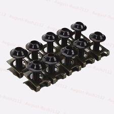 Black 6mm Fairing Body Work Bolt Kit Screw Spire Speed Fastener Clip Nut GSXR R1