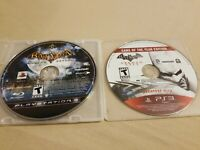 Lot of 2 Playstation 3 PS3 Games Batman Arkham City and Arkham Asylum Discs Only