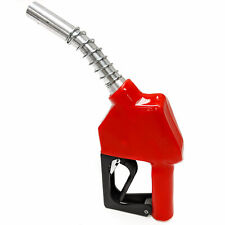 "Heavy-Duty 3/4"" Automatic Fueling Nozzle- 10.5-18.5 GPM (39-70 LPM) Flow - Red"