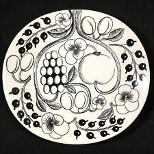 Arabia of Finland Oval Dinner Plate Kaipiainen Paratiisi Black Paradise