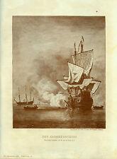 Alter Kunstdruck:Der Kanonenschuss/Kunstbeilage aus, die Gartenlaube/1901