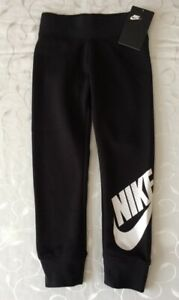 Nike Girl's Black Tracksuit Bottoms ( Size 4-5 Years)