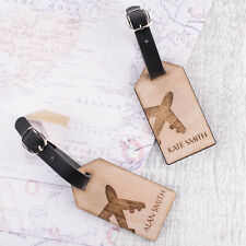 2pcs Personalised Wooden Luggage Tags Mr and Mrs Aeroplane Suitcase Tags