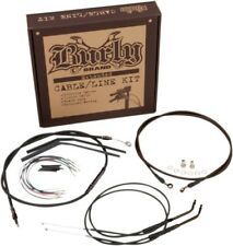 Burly Brand Braided SS Cable/Line Kit For 16in Ape Hanger Bar B30-1123