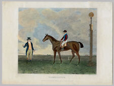 LITHOGRAPHIE ANCIENNE, B. Marshall, R. Romney, Lamplighter, cheval, courses