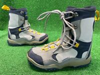 Lamar Delta Adult Linerless Snowboard Boots Size 11  Gray Navy Blue Yellow