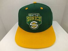 Seattle SuperSonics NBA  Retro Vintage Snapback Hat Cap NEW by Adidas