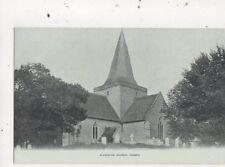 Alfriston Church Sussex Vintage Postcard 752a