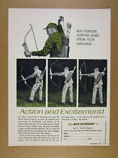 1964 Ben Pearson Hunting Bows bow hunter photo vintage print Ad