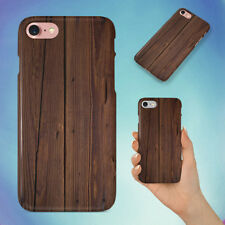 WOODEN PLANK HARD BACK CASE FOR APPLE IPHONE PHONE