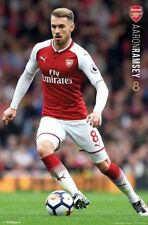 New listing Rare AARON RAMSEY Arsenal FC 2018 EPL Football Soccer Action POSTER