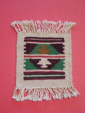 "Handwoven WOOL RUG For 18"" DOLLS Native American Design AMERICAN GIRL vgc"