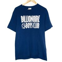 Billionaire Boys Club BBC Spellout Mens Navy Blue T-Shirt Size M Single Stitch