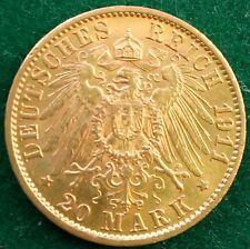 20 Mark Kaiserreich 900 Goldmünze Wilhelm II König von Preußen 1911 A.Jaeger.252