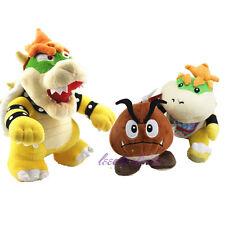 """Super Mario Jr. Bowser 10"""" Standing King Bowser Koopa & Goomba Plush Doll Xmas"""