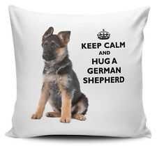 Keep Calm And Hug A German Shepherd Cushion Cover - 40cm x 40cm - Brand New