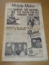 MELODY MAKER 1955 OCTOBER 15 STAN KENTON TED HEATH JOHNNY DANKWORTH WINSTONE +