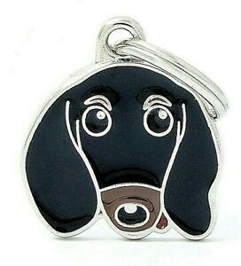 Dachshund Dog ID Tag (19)- Engraved FREE - Personalised Identity - Keyring