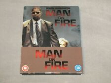 MAN ON FIRE Steelbook Blu-ray + DVD UK Import RARE (Denzel Washington)