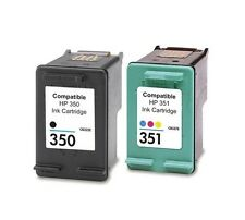 2 cartuchos impresora HP 350 XL HP 351 XL OfficeJet j5780 Deskjet d4260 d4360 HC