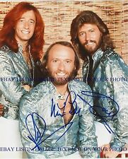 THE BEE GEES SIGNED AUTOGRAPHED 8x10 RP PHOTO BARRY ROBIN & MAURICE GIBB BEEGEES