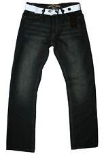 URBAN REPUBLIC schwarz wash comfort fit jeans mit gürtel herren