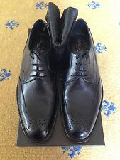New Gucci Men's Shoes Black Leather Lace Up Brogues UK 8 US 9 EU 42
