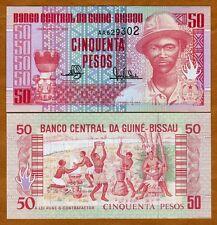 Guinea Bissau, 50 Pesos, 1990, P-10, UNC