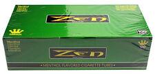 50 (Fifty) Boxes Zen Green/Menthol 100mm Cigarette Tubes (200ct Carton) RYO/MYO