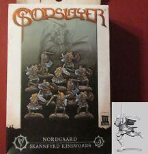 Godslayer MG-0410 Nordgaard Skannfyrd Kinswords Unit Box (10) Miniatures Humans