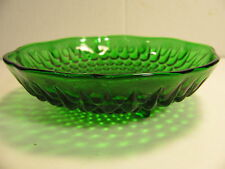 VINTAGE ANCHOR HAWKING 3 FOOTED HOBNAIL GREEN CANDY DISH/BOWL IN GREAT CONDITION