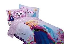 New Genuine Disney Store Frozen Elsa & Anna Twin Sheet & Pillowcase 3Pc Set