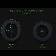 Oval Round Ear Cushion Pad For Razer Kraken 7.1 Pro Chroma V2 USB Gaming Headset