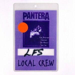 RARE ORIGINAL Pantera 1994 1995 Far Beyond Tour Backstage Pass - Local Crew
