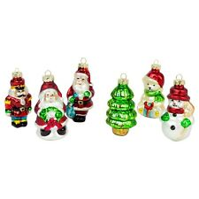 6-pack Classic Christmas Tree 8cm Glass Bauble Decoration Ornaments
