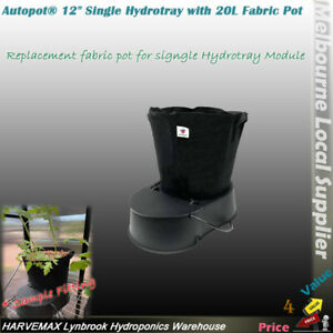 AutoPot Hydrotray 12'' Single Module   20L Fabric Pot  Smart Valve & 4mm Tubing