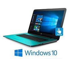 "HP 15 15.6"" Touchscreen Laptop Core i7-7500U 2.7GHz 12GB 1TB DVDRW WiFi W10 Teal"