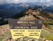 Colorado - MONARCH PASS - Continental Divide - Flexible Fridge Magnet