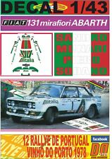 DECAL 1/43 FIAT 131 ABARTH S.MUNARI R. PORTUGAL 1978 DnF (08)