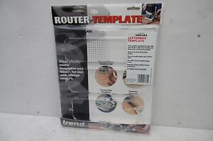 TREND LETTER BOX ROUTER TEMPLATE TEMP/LB/A
