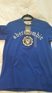 Abercrombie and Fitch T Shirt - Blue - Size Small