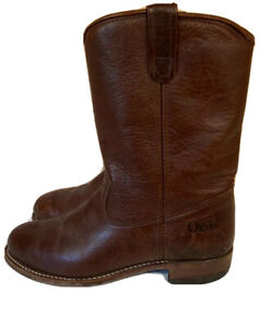 Vintage Orvis Leather Quilt Lined Boots Made in USA Men's 9 M Pull On